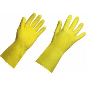 Luva latex amarela
