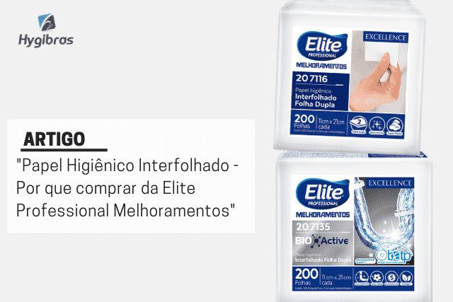 Papel higiênico interfolhado Elite Professional