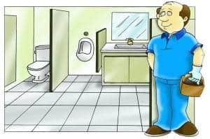 Clip Art Treinamento para equipe de limpeza