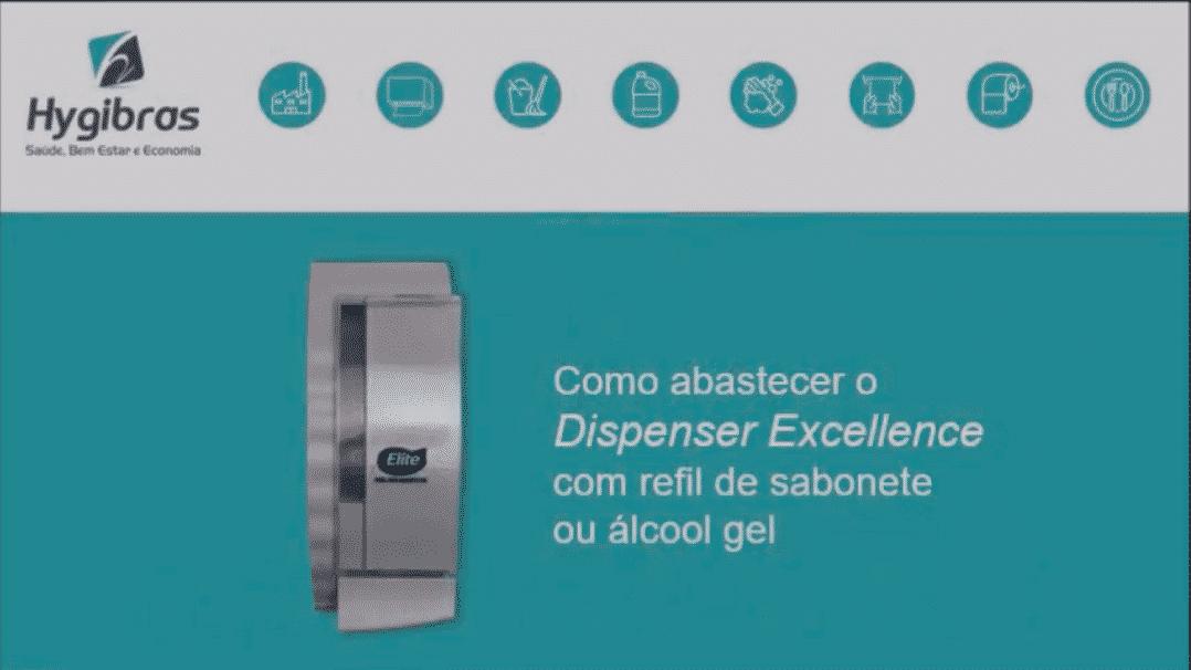 Porta sabonete líquido e álcool gel linha excellence
